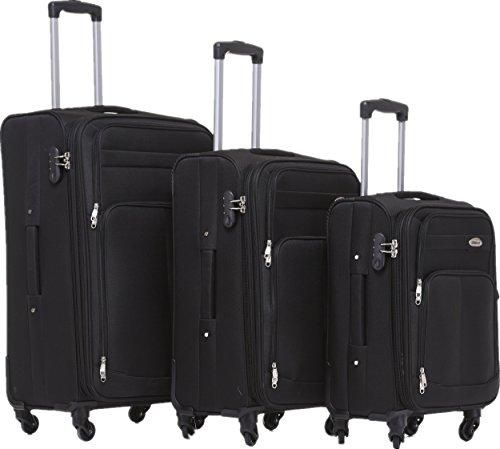BEIBYE 4 Rollen Reisekoffer, 3tlg