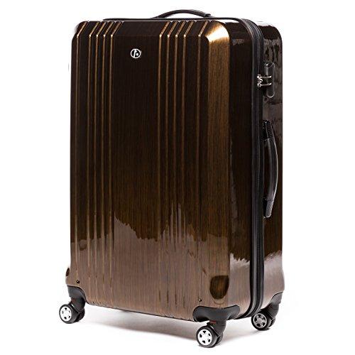 FERGÉ® Kofferset Hartschale 3-teilig CANNES Reise-Koffer Set leicht 3er Hartschalenkoffer Trolley Set (M L XL) 4 Zwillings-Rollen (360°) Hartschale braun - 8