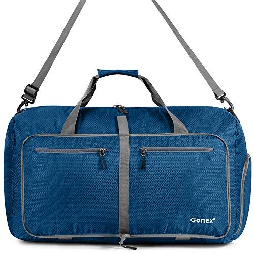 Gonex Leichter Faltbare Reise-Gepäck 80L, Farbe: Schwarz, Duffel Taschen Uebernachtung Taschen/Sporttasche für Reisen Sport Gym Urlaub - 2