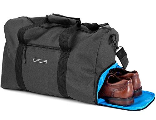 Ronin's Stilvolle Reisetasche mit Schuhfach und Trinkflaschen-Halter