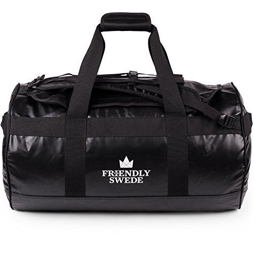 The Friendly Swede Wasserfeste Reisetasche - Duffle Bag Rucksack 30L / 60L / 90L - Seesack, Sporttasche - Duffel Dry Bag mit Rucksackfunktion - SANDHAMN - 2