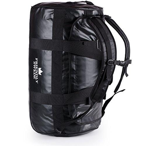 The Friendly Swede Wasserfeste Reisetasche - Duffle Bag Rucksack 30L / 60L / 90L - Seesack, Sporttasche - Duffel Dry Bag mit Rucksackfunktion - SANDHAMN - 3