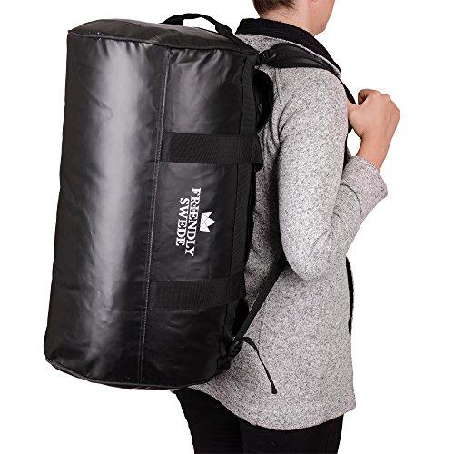 The Friendly Swede Wasserfeste Reisetasche - Duffle Bag Rucksack 30L / 60L / 90L - Seesack, Sporttasche - Duffel Dry Bag mit Rucksackfunktion - SANDHAMN - 4