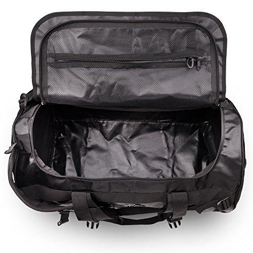 The Friendly Swede Wasserfeste Reisetasche - Duffle Bag Rucksack 30L / 60L / 90L - Seesack, Sporttasche - Duffel Dry Bag mit Rucksackfunktion - SANDHAMN - 6