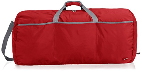 AmazonBasics - Seesack / Reisetasche, groß, 98 l, Rot