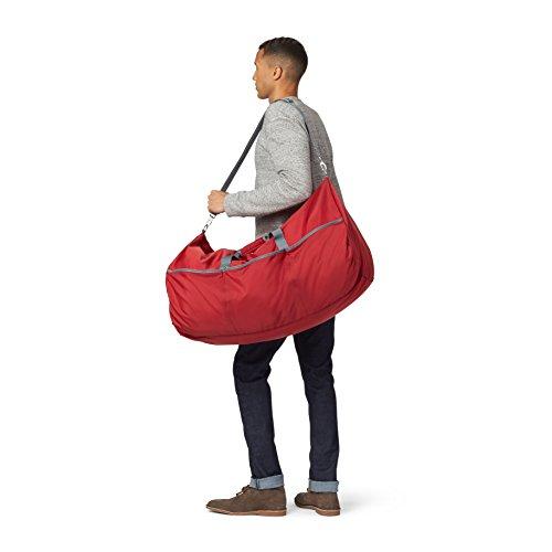 AmazonBasics - Seesack / Reisetasche, groß, 98 l, Rot - 2