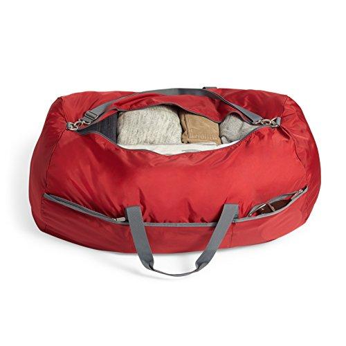 AmazonBasics - Seesack / Reisetasche, groß, 98 l, Rot - 3