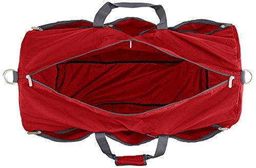 AmazonBasics - Seesack / Reisetasche, groß, 98 l, Rot - 7