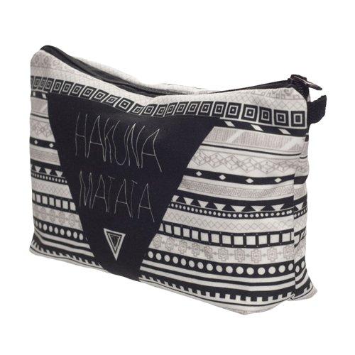 Hakuna Matata Aztec Kosmetiktasche Federmappe Mäppchen Tüte Beutel Zipper Kulturbeutel Make Up Bag Reißverschluss Full Print All Over Kosmetiktüte - 2
