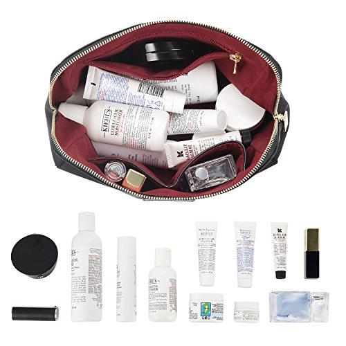 CHICECO Nylon Groß Kosmetiktasche für Handtasche, 1 Schwarz, L - 2