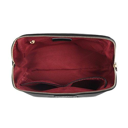 CHICECO Nylon Groß Kosmetiktasche für Handtasche, 1 Schwarz, L - 4