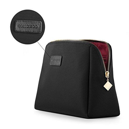 CHICECO Nylon Groß Kosmetiktasche für Handtasche, 1 Schwarz, L - 5