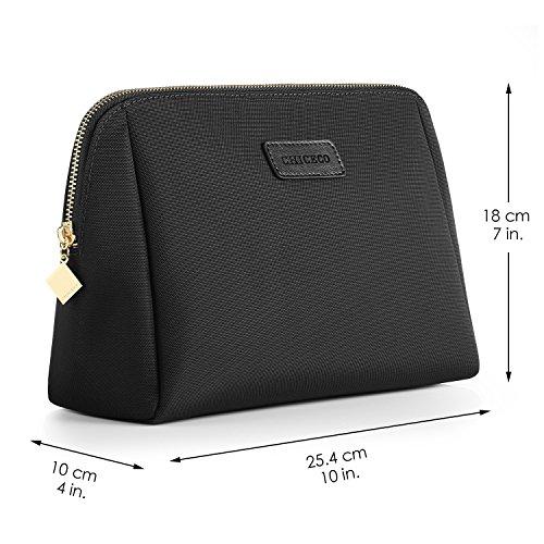 CHICECO Nylon Groß Kosmetiktasche für Handtasche, 1 Schwarz, L - 6