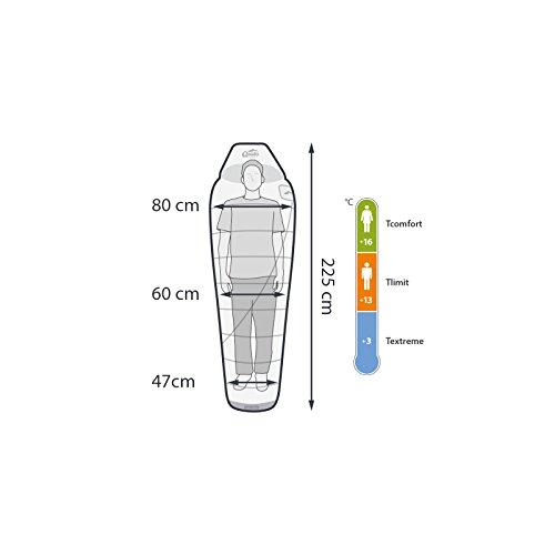 Sommer-Schlafsack Qeedo Light Hitazo, kleines Packmaß (19 x 16 cm) / extrem klein& leicht (670g) - orange - 2