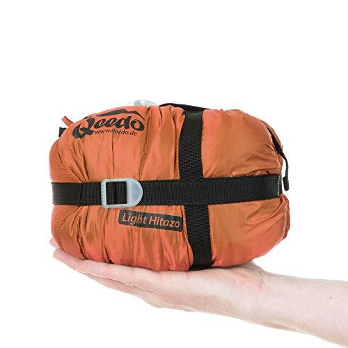 Sommer-Schlafsack Qeedo Light Hitazo, kleines Packmaß (19 x 16 cm) / extrem klein& leicht (670g) - orange - 4