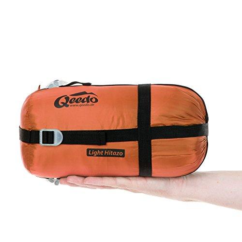 Sommer-Schlafsack Qeedo Light Hitazo, kleines Packmaß (19 x 16 cm) / extrem klein& leicht (670g) - orange - 5