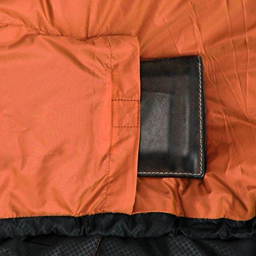 Sommer-Schlafsack Qeedo Light Hitazo, kleines Packmaß (19 x 16 cm) / extrem klein& leicht (670g) - orange - 6