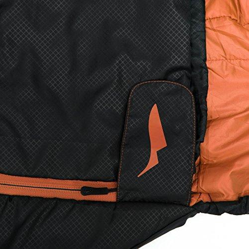 Sommer-Schlafsack Qeedo Light Hitazo, kleines Packmaß (19 x 16 cm) / extrem klein& leicht (670g) - orange - 7